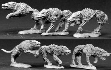 Undead Hounds Dark Heaven Legends Miniatures