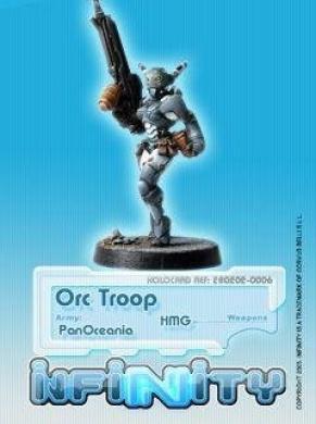 Infinity (#006) PanOceania Orc Troop HMG (1)