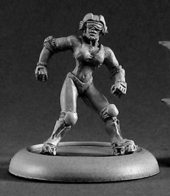 Roller Girl Chronoscope Miniature Figures by Reaper Miniatures