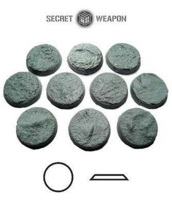 Secret Weapon - Scenic Bases: Bevelled Edge 25mm Desert Mesa 02 (10)