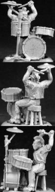 Toad Punk Rock Drummer Chronoscope Miniature Figures by Reaper Miniatures