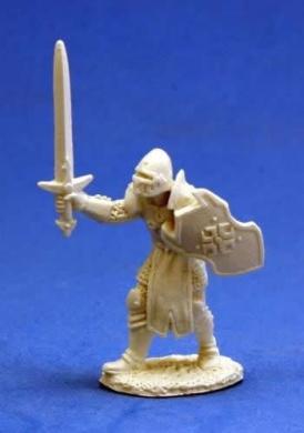 Male Human Warrior - Dark Heaven Bones Miniature
