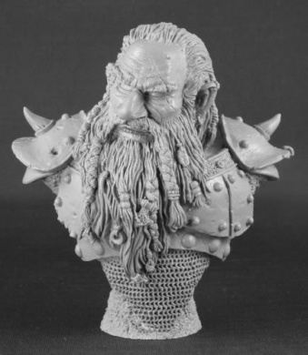 The Grudge Resin Dwarf Bust Master Series