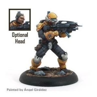 Mercs Minis: Yellow Jackets - Assault Trooper (1)