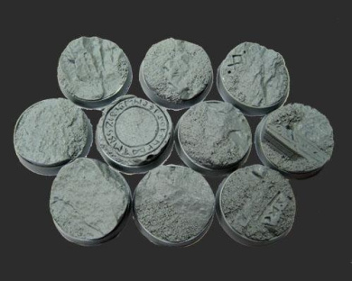 Secret Weapon - Scenic Bases: Bevelled Edge 25mm Runic Mountain 02 (10)