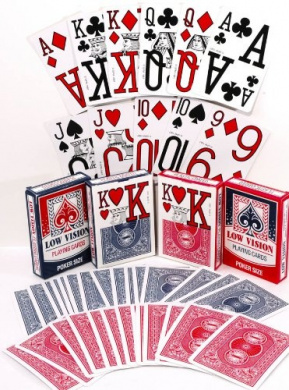Low Vision Playing Cards _ Bundle of 4 Decks