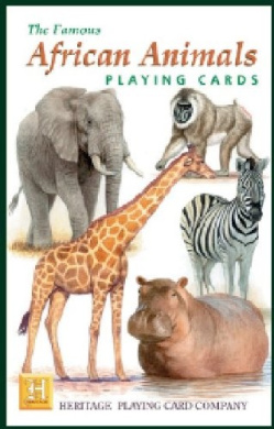 African Animals Playing Cards