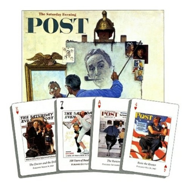 US Games Systems Inc Norman Rockwell Saturday Evening Post Double Bridge Playing Cards