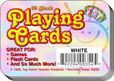 PLAYING CARDS BLANK 52CT WHITE