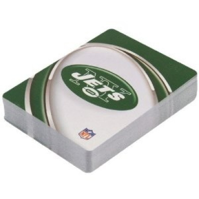 New York Jets Team Logo Vortex Design Playing Cards