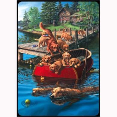 Dog Paddle (1) Deck Bridge Playing Cards
