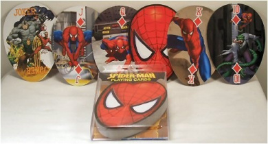 Spider-Man Shaped Playing Cards
