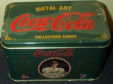 Coca-Cola Metal Art Cards (Calander Girls) 1994