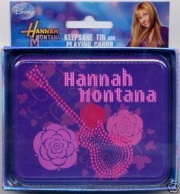 Hannah Montana Playing Cards with Keepsake Tin