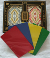 2 Free Cut Cards + KEM Orange Blue Paisley Playing Cards Bridge Size Regular Index