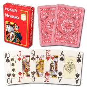 Modiano 100% Plastic Playing Cards Red Cristallo 4 PIP JUMBO INDEX