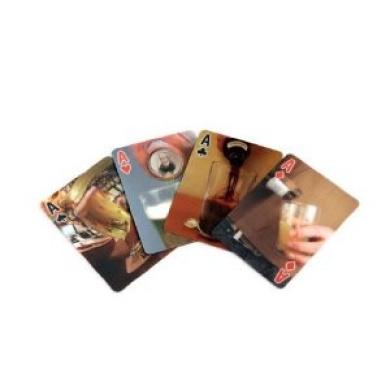 Kikkerland Lenticular Beer Playing Cards