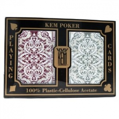 KEM Jacquard 100% Plastic Playing Cards - 2 Decks