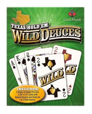 Texas Hold'em Wild Deuce Poker Playing Cards Double Deck- Naipes de Poker 2 Mazos