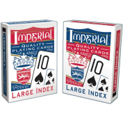 Patch Products 1451 Imperial Poker Playing Cards, Large Index - Quantity 12