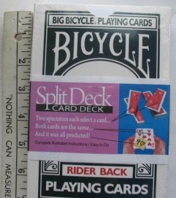 Big Bicycle Split Deck Playing Cards Jumbo Large Size 18cm x 13cm