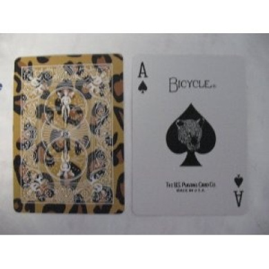 Bicycle Leopard Deck Playing Cards - Leopard Skin Back Design