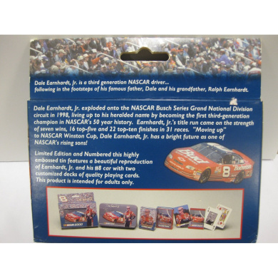 Nascar 2000 - #8 Dale Earnhardt Jr. 2-decks Playing Cards in Collectible TIN!