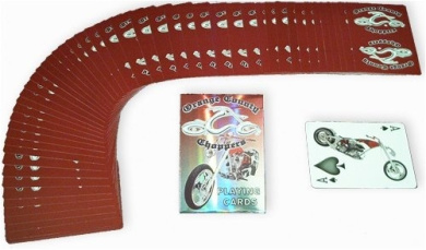 Orange County Choppers Playing Cards, Red Back
