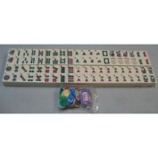 New 166 Ivory Colour American Western Full Size Mah Jongg Tiles, Money Chips, Bettor, Dice