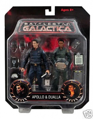 Battlestar Galactica Apollo and Dualla Action Figure Two-Pack