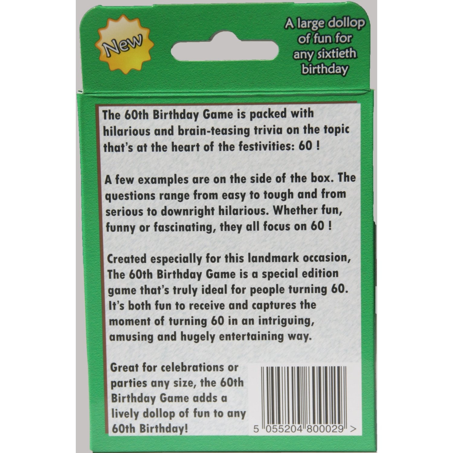 The 60th Birthday Game Fun New 60th Birthday Party Game Idea Also