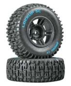 Duratrax Lockup SC Tyre C2 Mounted Black Slash Front