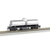 Bachmann Trains Track Cleaning Tank Car-Unlettered-Silver-Ho Scale