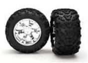 Traxxas Geode Chrome Wheels,T-Maxx Tyres(2):Rev TRA5674
