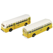 Classic Metal Works HO Scale GMC TD 3610 Transit Bus 2-Pack - National City Lines Destination Los Angeles