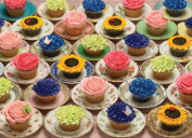 Cupcakes and Saucers 1000 Piece Jigsaw Puzzle