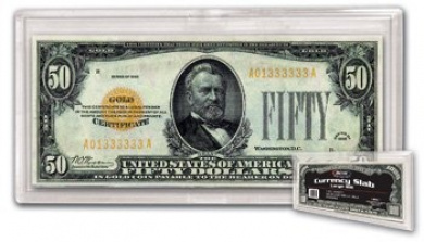 Deluxe Large Bill Currency Collecting Slab