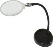 SE 11cm Table Magnifier, 33cm Flexible Neck, Glass Lens