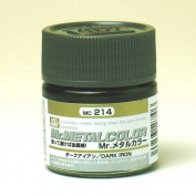 Gundam Mr. Metal Colour 214 - Dark Iron Paint 10ml. Bottle Hobby