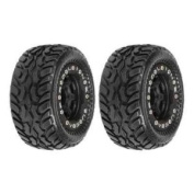 Pro-Line Racing 1071-13 Dirt Hawg I Off-Road Tyres Mounted on Black/Black Titus Bead-Loc Wheels