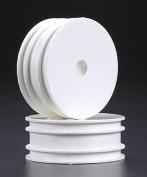 Associated B4 Front Dish Wheel 2.2 White (2), 9588