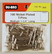 Du-Bro 253 3.2cm Nickel Plated T-Pin (Quantity/Package