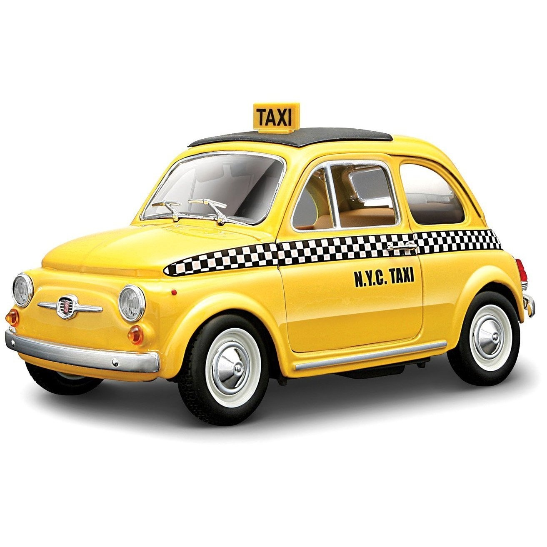 Fiat 500 Nyc New York Taxi Diecast Car Model 1 24 Bburago By Fiat