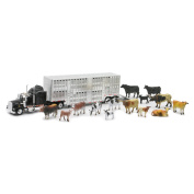 Country Life - Kenworth Livestock Tractor Trailer with 14 Head of Cattle - 1:43 scale