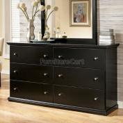 Cottage Style Black Maribel Bedroom Dresser
