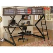 Black Workstation Loft Bed - Coaster 460092