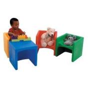 Children s Factory CF910-010 Chair Cube- Yellow