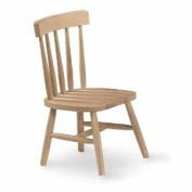 International Concepts 1124P Pair of Tot's Chairs, Unfinished