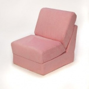 Teen Chair in Pink Micro Suede Pillow
