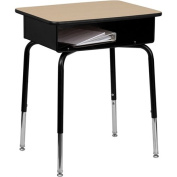 Flash Furniture Student Desk with Open Front Metal Book Box